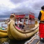 Pueblo de los Uros. Lago Titicaca